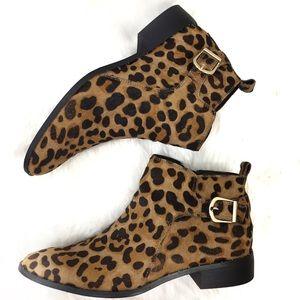 Anthro Steven by Steve Madden Leopard Boots Sz 9.5